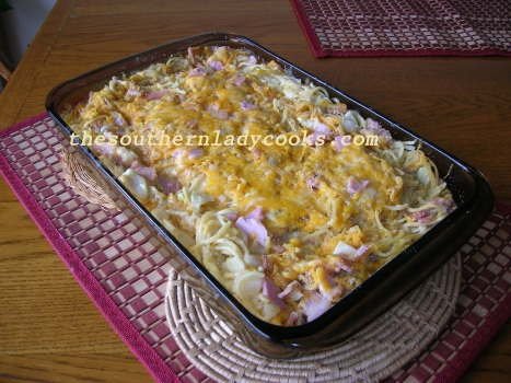 Cabbage, Ham and Spaghetti Casserole - Copy